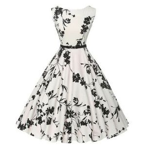 Black and white vintage style dress